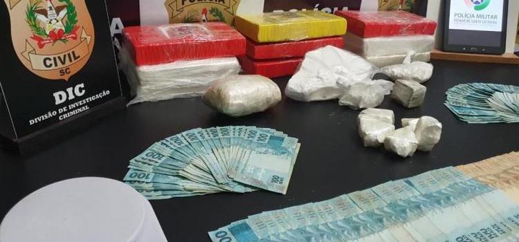 Polícia prende traficante com 10 quilos de cocaína