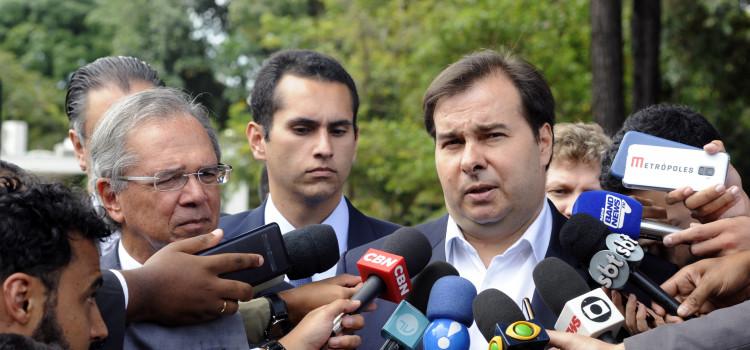 Maia e Guedes anunciam convergência pela reforma da Previdência