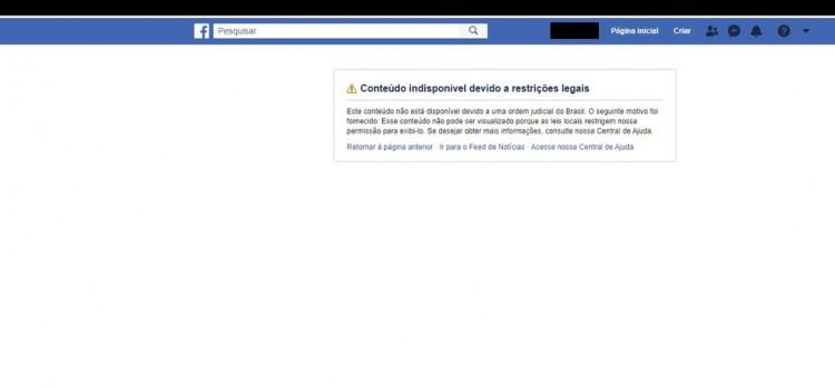 Facebook vai recorrer à decisão que bloqueou bolsonaristas