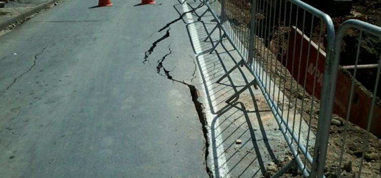 Trecho da Rua Humberto de Campos é totalmente interditado