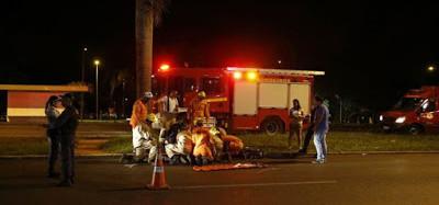 Atropelamento deixa um morto na Rua Paul Fritz Kuehnrich
