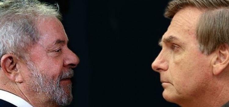 Pesquisa confirma disputa entre Lula e Bolsonaro