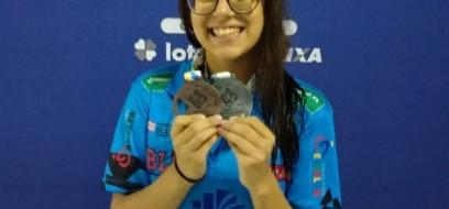 Paratleta conquista prata e bronze no Circuito Caixa de Natação