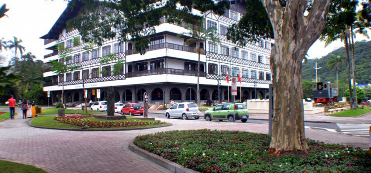 Praça Victor Konder recebe poda de árvores