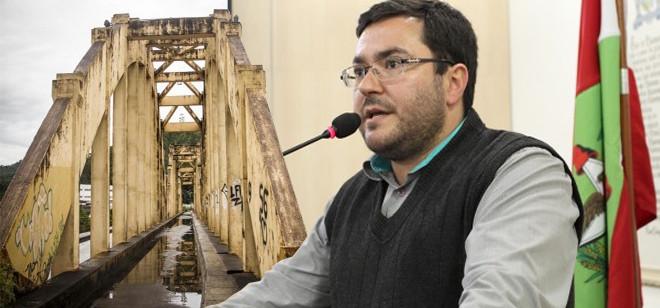 Vereador relata reclamações referentes à má condição da Ponte dos Arcos