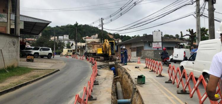 Obras para o novo Reservatório prosseguem na Rua dos Caçadores