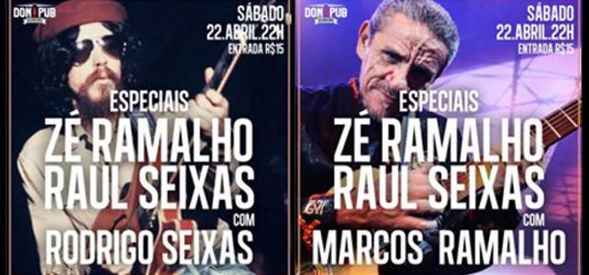 Sábado tem cover de Raul Seixas e Zé Ramalho no Don Pub