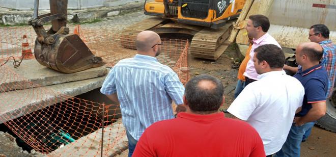 Obras de recuperação seguem em andamento em Blumenau