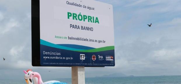 66,2% dos pontos estão próprios para banho no litoral catarinense