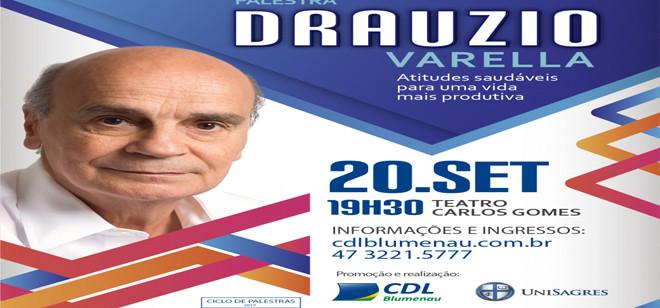 Drauzio Varella agenda palestra para setembro em Blumenau