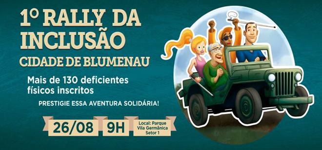 Rally da Inclusão vai divertir pessoas com deficiência no dia 26