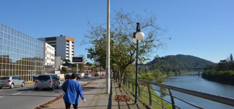 Manutenção no passeio da Beira Rio inicia dia 9
