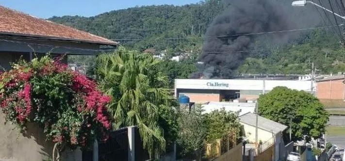 Fábrica da Hering sofre incêndio