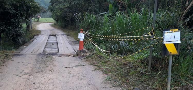 Ponte na Rua Santa Maria fica interditada para veículos acima de 1 tonelada