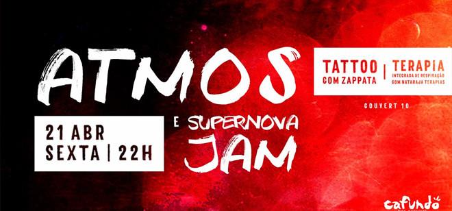 Sexta é dia de Atmos e Supernova Jam no palco do Cafundó