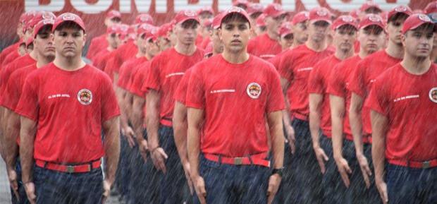 Corpo de Bombeiros recebe nova turma de alunos soldados
