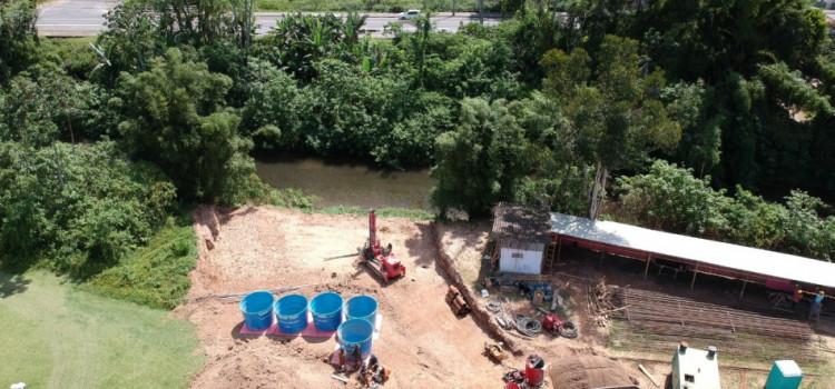 Ponte Wilson Seiler, no Garcia, recebe sondagem de estacas para construção