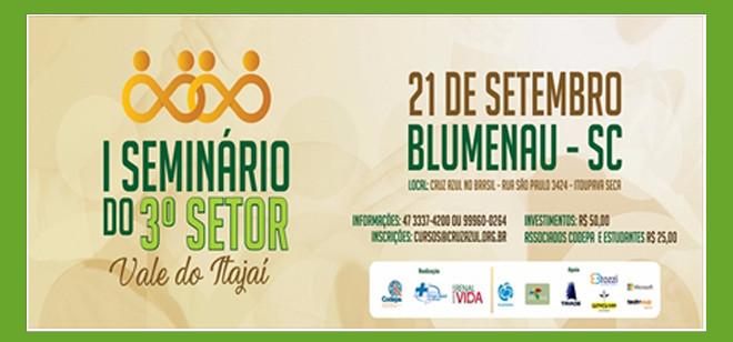Blumenau recebe 1º Seminário do Terceiro Setor do Vale do Itajaí
