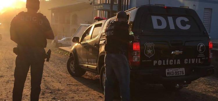 Operação policial prende cinco membros de facção na região