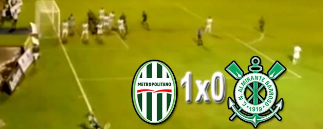 Metropolitano vence o Almirante Barroso por 1x0 em Blumenau