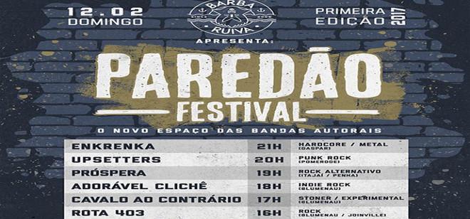 Domingo tem Paredão Festival 2017 no Ahoy