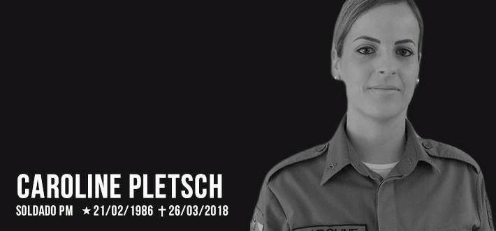 Nota de luto pela policial catarinense executada em Natal