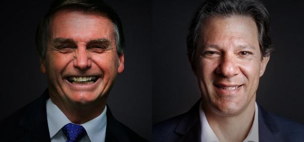 Em pesquisa da Datafolha Bolsonaro leva 58% e Haddad, 42%