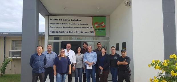 Comitiva do Governo de Tocantins visita Presídio Santa Augusta em Criciúma