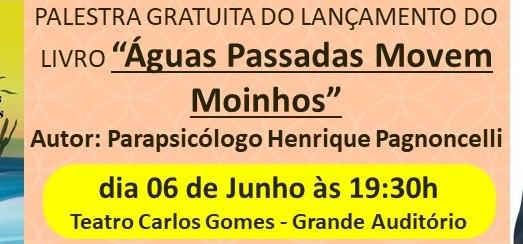 Famoso parapsicólogo dá palestra no Carlos Gomes
