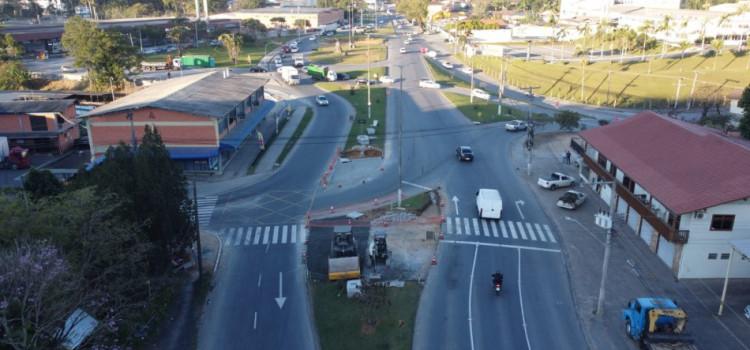 Rotatória no Salto Norte ampliará agilidade no trânsito