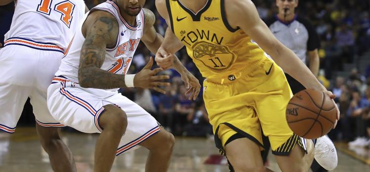 Warriors atropelam os Knicks em boa atuação coletiva