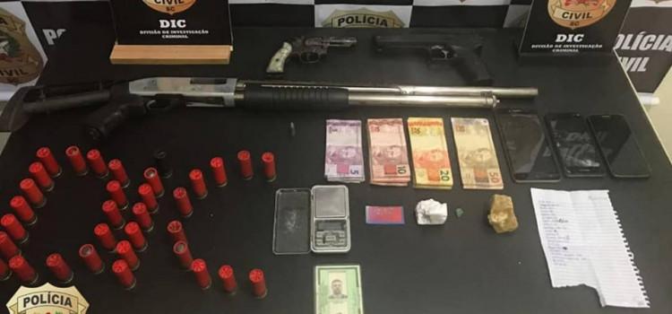 Polícia Civil prende envolvidos com tráfico de armas e drogas