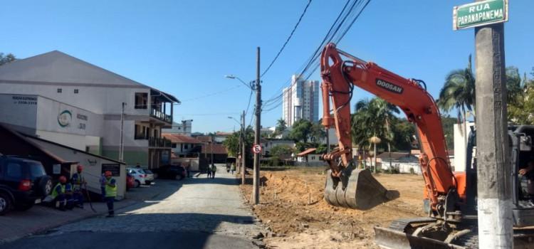 Obras na General Osório avançam até na Rua Paranapanema