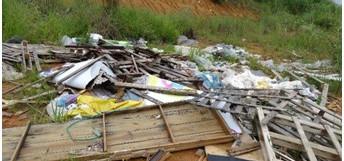 Faema fiscaliza despejo de resíduos às margens da BR-470