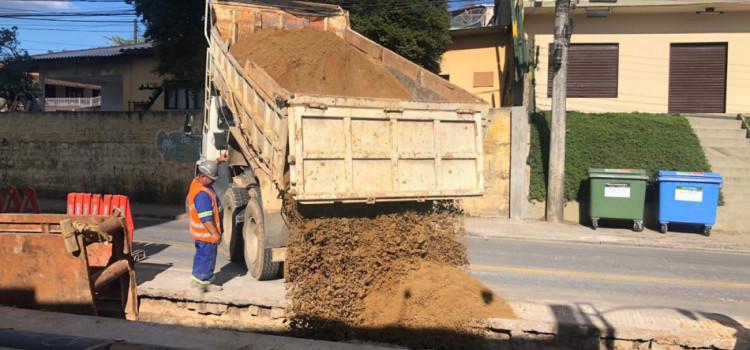 Obras do novo Reservatório Fortaleza seguem na Francisco Vahldieck