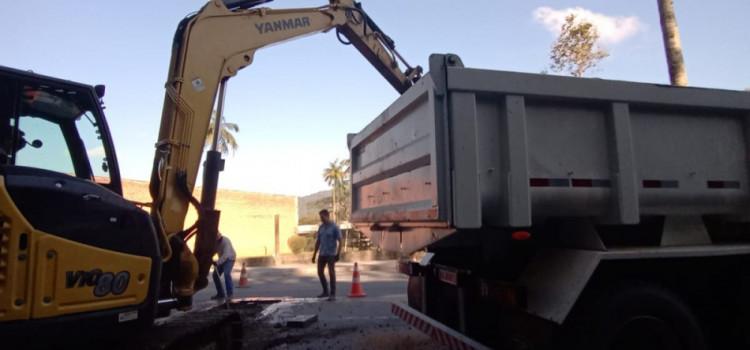 Samae executa segunda etapa da obra de setorização da Rua Amazonas